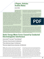 Static Energy Meter Errors Caused by Conducted Electromagnetic Interference