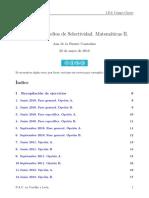 Ejercicios PAU Matemáticas
