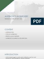 Antibiotic in Surgery