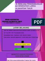 Pelaksanaan Pengembangan LANSIA Kaltim_Bekasi2017 NEW