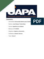 Algebra y Geometría Tarea II