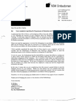 Letter From Ombudsman Re Child Protection 19 March 2003