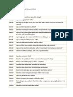 Daftar Pertanyaan Audit Semua Kelompok Kelas c
