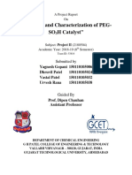 Synthesis and Characterization of PEG-SO3H Catalyst