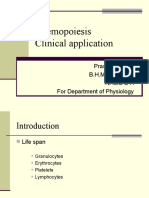 Haemopoiesis and Clinical Application