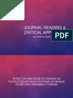 Journal Reading & Critical Appraisal