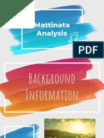Mattinata Analysis