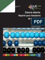 Ciencia Abierta Reporte Para Tomadores de Decisiones ZPolicyPapersCILAC 29-04-2019 C