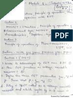JFET -Previous Univ Qns