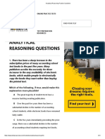 Analytical Reasoning Practice Questions