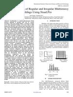 Seismic Analysis of Regular and Irregular Multistorey Buildngs Using Staad.Pro
