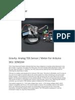 Sen0244 Tds Sensor