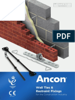 ANCON Wall Ties and Restraint Fixings May 2018