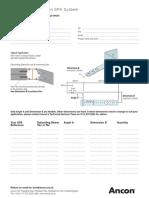 ANCON SPA Frame Cramp Design Sheet