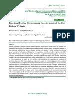 Functional Feeding Groups among Aquatic insects of the East Kolkata Wetlands