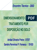 Dimensionamento ETEs Tratamento