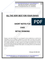 CAIIB-Retail Banking-Short Notes by Murugan