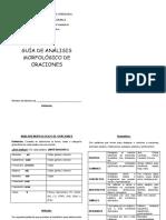 Guia de Analisis Morfolofico de Oraciones PDF