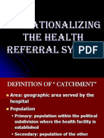 Operationalizing the Health Referral System