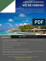 Job Advert - Sous Chef