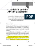 Colonialism and the African Experience