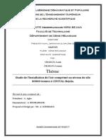 Etude de l'Installation de l'Air Comprimé Au Niveau de Silo80000 Tonnes à CEVITAL-Bejaïa