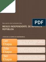 México Independiente. de Imperio a República