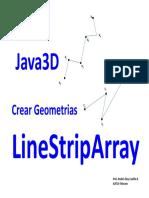 Curso Java3D Módulo 09-CreandoGeometriasParte02-LineStripArray