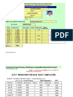 G.P.F. Calculation for West Bengal Govt Employees