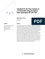 A Method for the Trace Analysis of 175 Pesticides Using the Agilent Triple Quadrupole GCMSMS.aspx