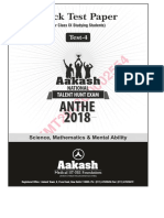 Anthe Mock Test 4 Ix 2019
