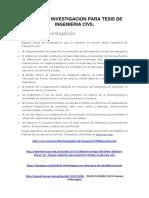 Temas de Investigacion Para Tesis de Ingenieria Civil