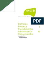 REQM -Definición de Procesos y Procedimientosv3.0