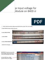 Procedure to Change Input Voltage for Siemens ALM 840D
