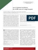 Complication of Epidural Anesthesia
