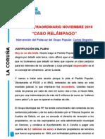 """Interv.Carlos Negreira pleno Extraordinario """"Caso Relámpago"""""""