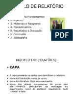 MODELO DE RELATÓRIO DE BIOQUIMICA SOBVRE AULA PRATICA.ppt