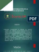 Sistemas de Información de La Gobernación de Boyacá