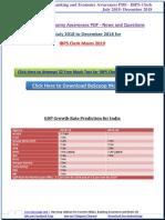 Banking Affairs July-Dec 2018, Ibps Clerk Mains 2019