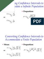 Formulas for Interval Estimation