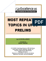 Most Repeated Topics in Upsc Prelims