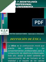 269318720 Presentacion Etica y Deontologia Profesional en Enfermeria