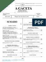00902 Decreto a. N. Nº. 8549 Decreto de Aprobación de La Adhesión de Nicaragua Al Convenio Sobre La Notificación o Traslado en El Extranjero de Documentos Judiciales y Extrajudiciales en Materia Civil o Comercial