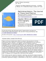 Hayden White e a historiografia da libertação