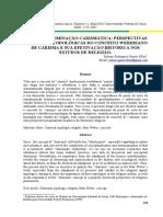Carisma e Dominação Carismática Perspectivas Teórico-metodológicas Do Conceito Weberiano de Carisma e Sua Efetivação Histórica Nos Estudos de Religião
