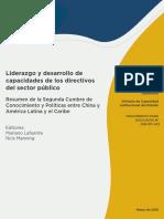 Liderazgo y Desarrollo de Capacidades de Los Directivos Del Sector Público Resumen de La Segunda Cumbre de Conocimiento y Políticas Entre China y América Latina y El Caribe