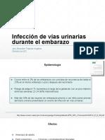 infecciones del tracto urinario en mujer embarazada