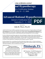 Hypnotherapy and Advanced Hypnotherapy Brochure