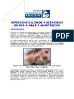 Hipersensibilidade a Alergenos Do Dia a Dia e a Anestesicos