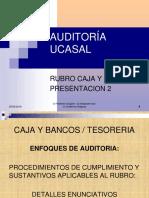 Auditoria Caja y Bancos 2 Clase 28set17